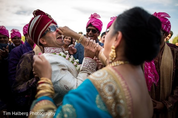 Baraat in Pleasanton, CA Indian Wedding by Tim Halberg Photography
