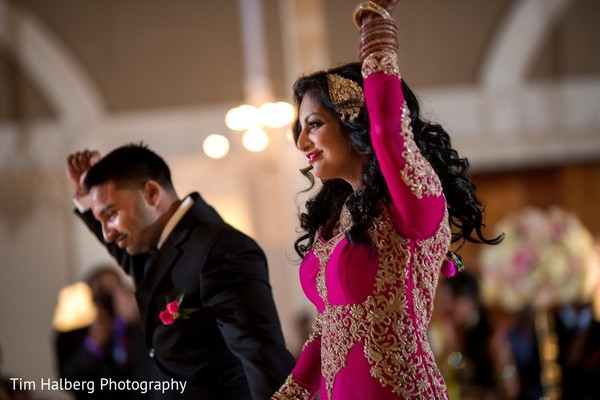 Reception in Pleasanton, CA Indian Wedding by Tim Halberg Photography