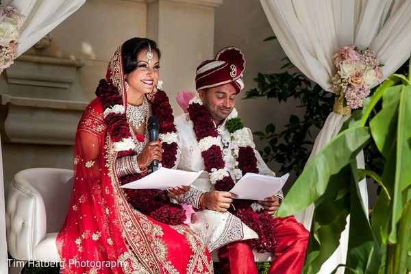 Ceremony in Pleasanton, CA Indian Wedding by Tim Halberg Photography