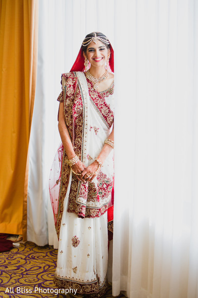 Bridal Portrait in Charlotte, NC Indian Wedding by All Bliss Photography