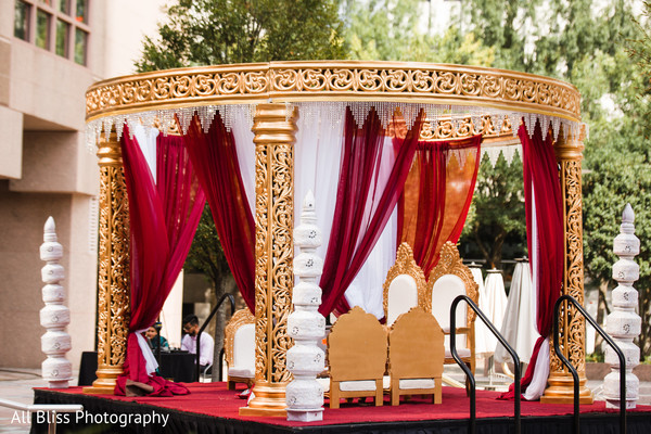 Mandap in Charlotte, NC Indian Wedding by All Bliss Photography