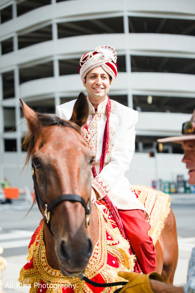 Baraat in Charlotte, NC Indian Wedding by All Bliss Photography