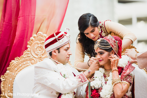 Ceremony in Charlotte, NC Indian Wedding by All Bliss Photography