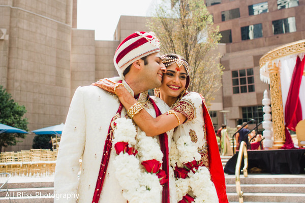 Wedding Portrait in Charlotte, NC Indian Wedding by All Bliss Photography
