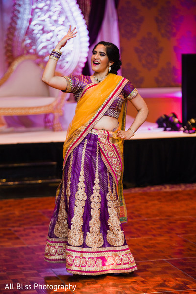 Reception in Charlotte, NC Indian Wedding by All Bliss Photography