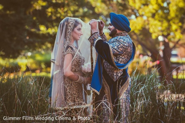 First Look in Fremont, CA Sikh Wedding by Glimmer Films Wedding Cinema & Photo