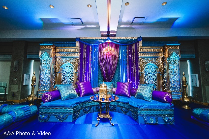 floral decor in jersey city nj indian wedding by a a photo video maharani weddings. Black Bedroom Furniture Sets. Home Design Ideas