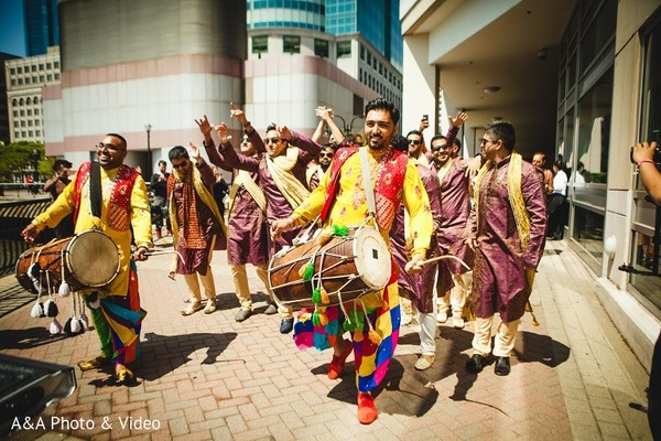 Baraat in Jersey City, NJ Indian Wedding by A&A Photo & Video