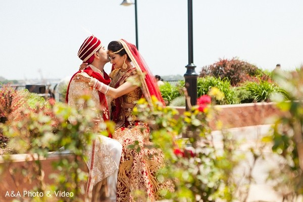 Wedding Portrait in Jersey City, NJ Indian Wedding by A&A Photo & Video