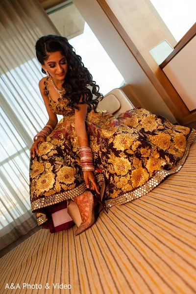 Getting Ready in Jersey City, NJ Indian Wedding by A&A Photo & Video