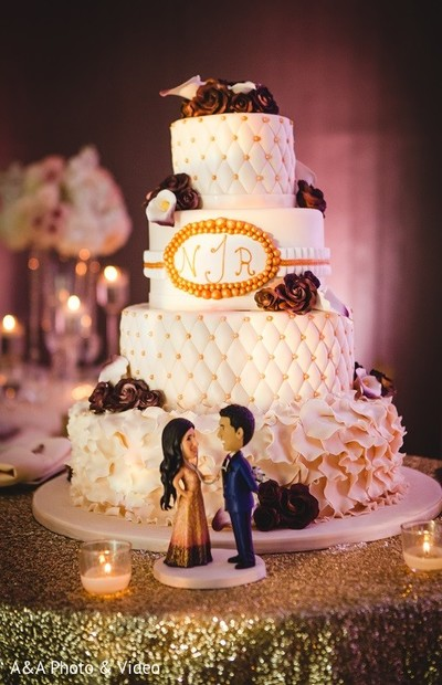 Cakes & Treats in Jersey City, NJ Indian Wedding by A&A Photo & Video