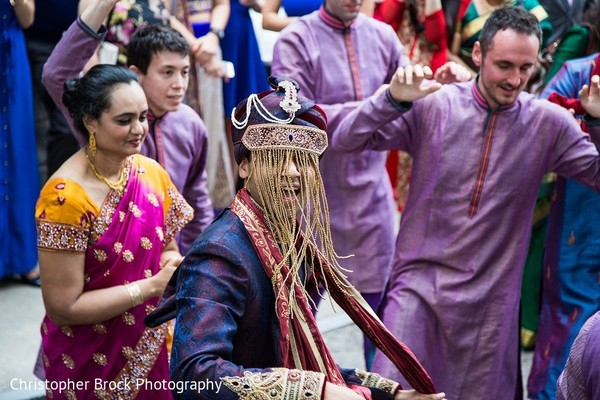 Baraat in Roswell, GA South Asian Fusion Wedding by Christopher Brock Photography