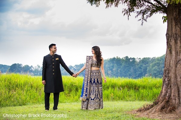 Reception Portrait in Roswell, GA South Asian Fusion Wedding by Christopher Brock Photography