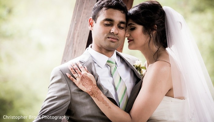 Wedding Portrait in Roswell, GA South Asian Fusion Wedding by Christopher Brock Photography