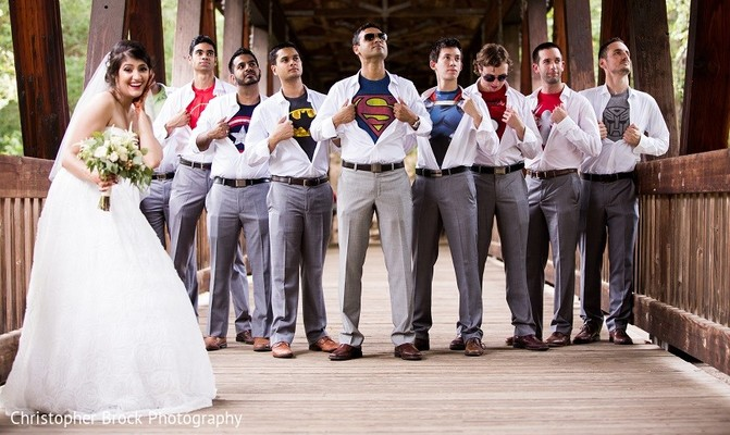 Groomsmen in Roswell, GA South Asian Fusion Wedding by Christopher Brock Photography