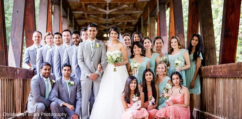 Wedding Party in Roswell, GA South Asian Fusion Wedding by Christopher Brock Photography