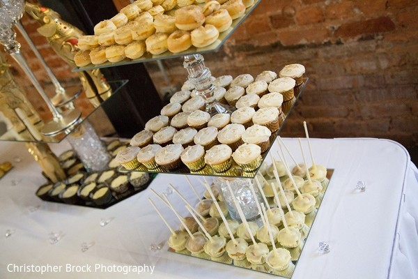 Dessert Table in Roswell, GA South Asian Fusion Wedding by Christopher Brock Photography