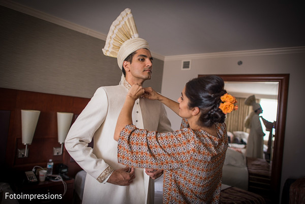 Groom Getting Ready in Syracuse, NY Pakistani Wedding by Fotoimpressions
