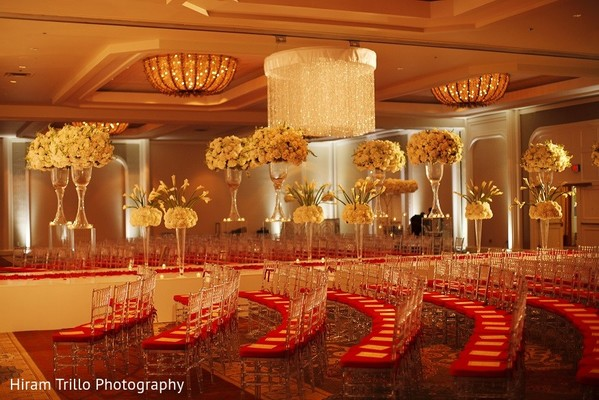 Ceremony Decor in Irving, TX Indian Wedding by Hiram Trillo Art Photography