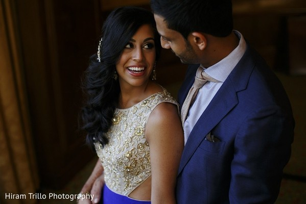 Reception Portrait in Irving, TX Indian Wedding by Hiram Trillo Art Photography