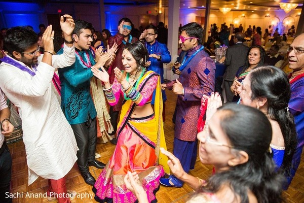 Sangeet in Overland Park, KS Indian Wedding by Sachi Anand Photography