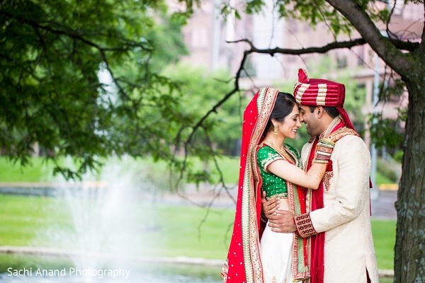 First Look in Overland Park, KS Indian Wedding by Sachi Anand Photography