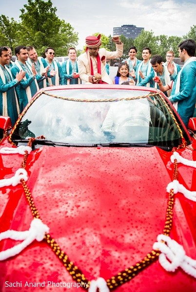 Baraat in Overland Park, KS Indian Wedding by Sachi Anand Photography