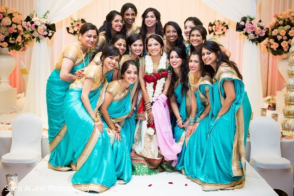 Bridal Party in Overland Park, KS Indian Wedding by Sachi Anand Photography