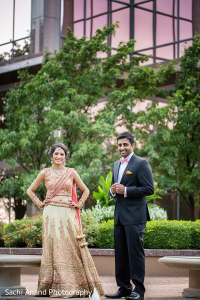 Reception Portrait in Overland Park, KS Indian Wedding by Sachi Anand Photography