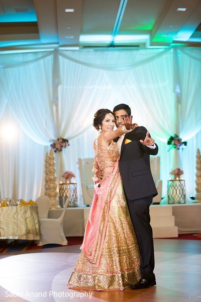 Reception in Overland Park, KS Indian Wedding by Sachi Anand Photography
