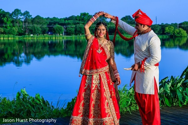 First Look in Savannah, GA Indian Wedding by Jason Hurst Photography