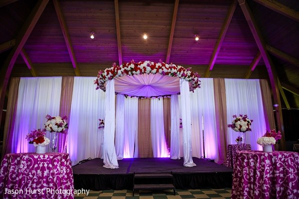 Mandap in Savannah, GA Indian Wedding by Jason Hurst Photography