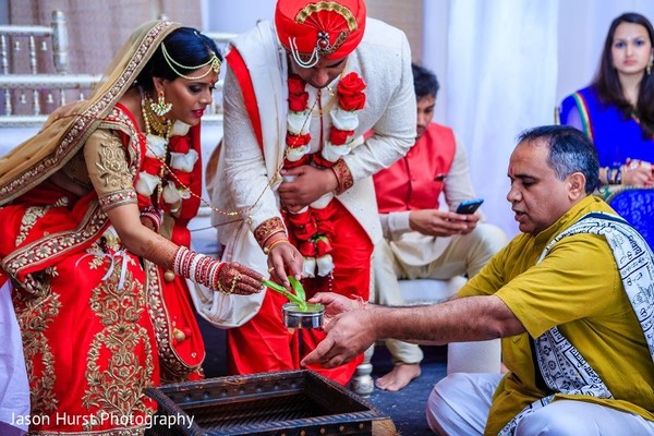 Ceremony in Savannah, GA Indian Wedding by Jason Hurst Photography