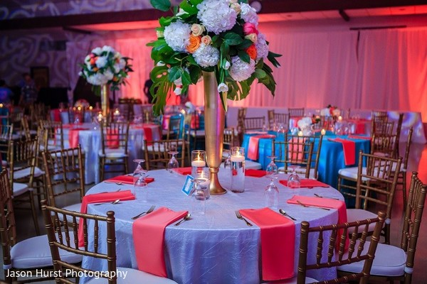 Floral & Decor in Savannah, GA Indian Wedding by Jason Hurst Photography