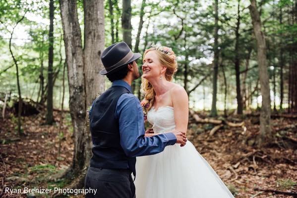 First Look Portraits in Shokan, New York Fusion Wedding by Ryan Brenizer Photography