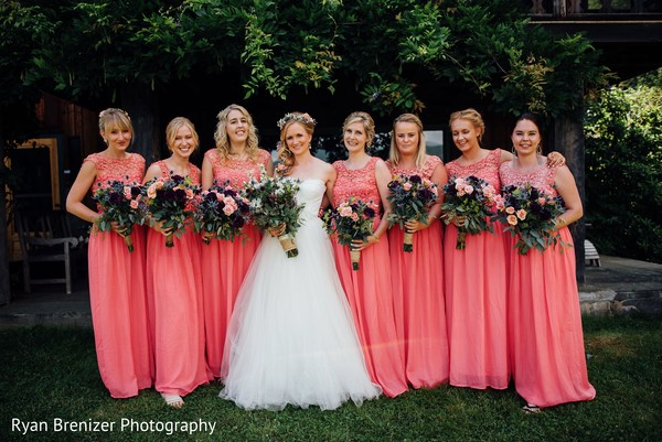 Bridal Party Portraits in Shokan, New York Fusion Wedding by Ryan Brenizer Photography