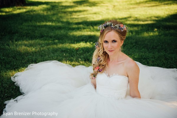 Bride Portraits in Shokan, New York Fusion Wedding by Ryan Brenizer Photography