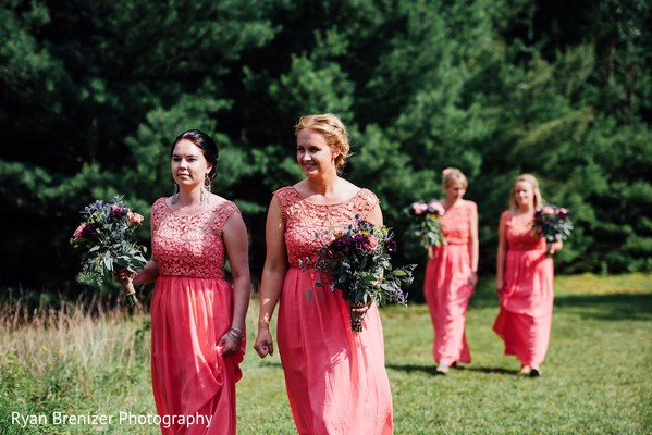Outdoor Ceremony in Shokan, New York Fusion Wedding by Ryan Brenizer Photography