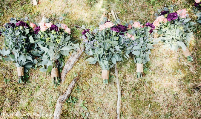 Bridal Bouquets in Shokan, New York Fusion Wedding by Ryan Brenizer Photography