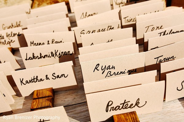 Place Cards in Shokan, New York Fusion Wedding by Ryan Brenizer Photography