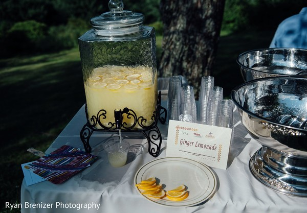 Refreshments in Shokan, New York Fusion Wedding by Ryan Brenizer Photography
