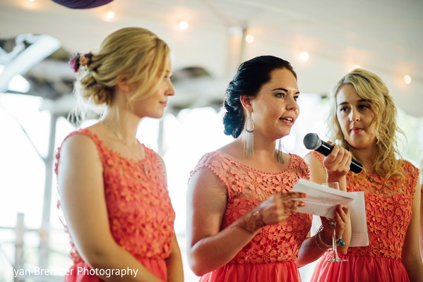 Reception Speeches in Shokan, New York Fusion Wedding by Ryan Brenizer Photography