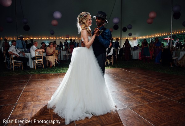 First Dance in Shokan, New York Fusion Wedding by Ryan Brenizer Photography