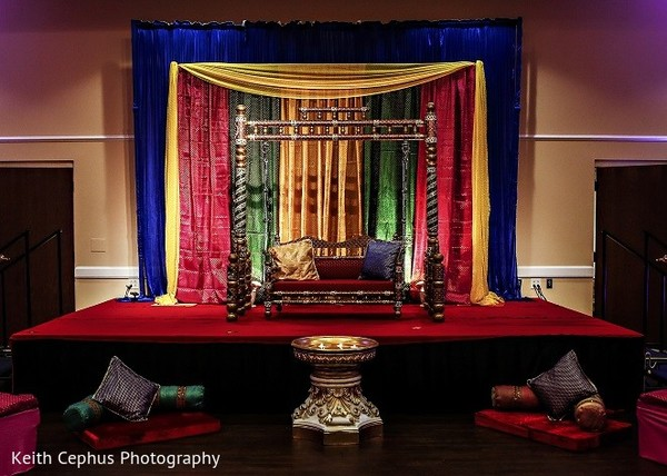 Pre-Wedding Decor in Portsmouth, VA Indian Wedding by Keith Cephus Photography
