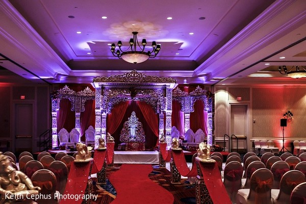 Ceremony Venue in Portsmouth, VA Indian Wedding by Keith Cephus Photography