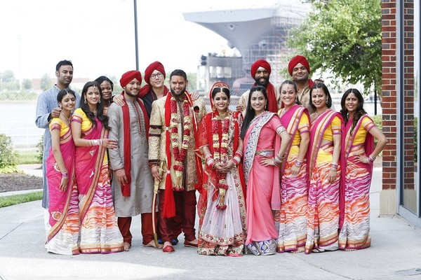 Wedding Party in Portsmouth, VA Indian Wedding by Keith Cephus Photography