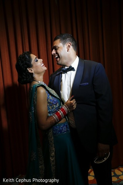 Reception Portrait in Portsmouth, VA Indian Wedding by Keith Cephus Photography