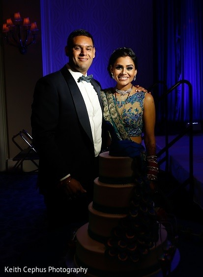 Reception in Portsmouth, VA Indian Wedding by Keith Cephus Photography
