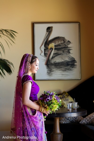Getting Ready in Rancho Palos Verdes Indian Fusion Wedding by Andrena Photography
