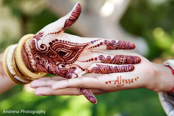 Mehndi in Rancho Palos Verdes Indian Fusion Wedding by Andrena Photography